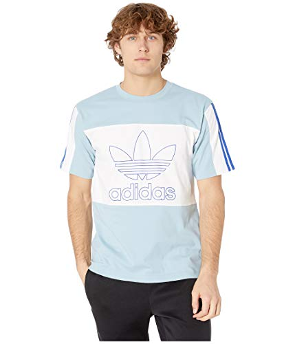 adidas Originals Men's Spirit Outline Block Tee Ash Grey Medium (Adidas Block Tshirt)
