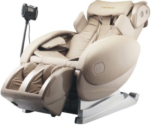 Fujiiryoki FJ-4300 Dr. Fuji Cyber-Relax Massage Chair in Beige with Four Rollers Massage Mechanism and Smart Touch Design, Optocoupler detection device, Newly developed four rollers massage mechanism with width of 6 to 20cm; Based on this, shoulder optocoupler detection device has been added to make accurate and reliable shoulder detection