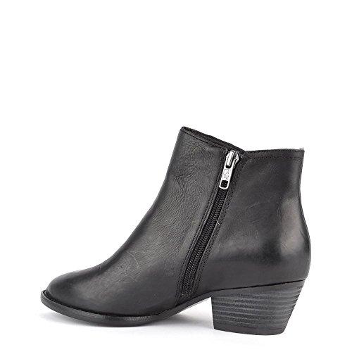 Lenny Footwear Ash Black Boot Black Leather Fringed 64gnqTw5