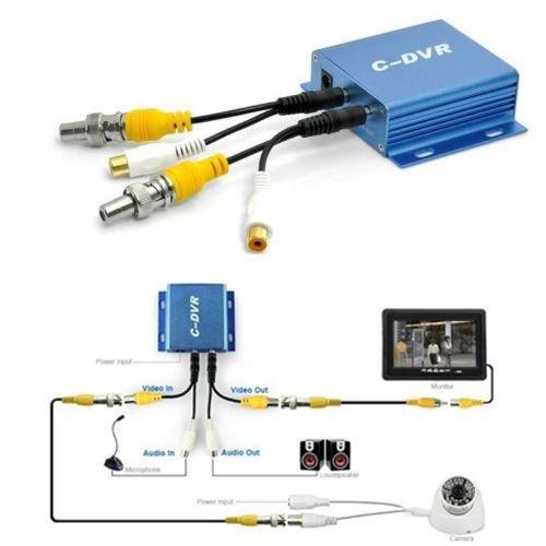 Mini DVR portable 1CH audio vidéo en Out enregistre Carte TF Micro SD telecamer