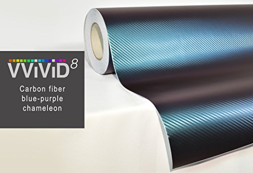 VViViD Chameleon Carbon Fiber Purple to Blue Oil Slick Stretch Conform Caste Vinyl Wrap Decal Roll XPO (25ft x 5ft)