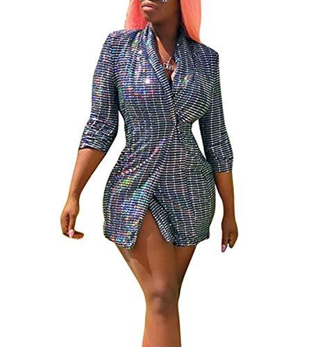 Coat De Primavera Outwear Plata Chaquetas Mujeres Manga Blazers Otoño Y Larga Tops Abrigo Remata Traje Cárdigans Casual Moda Jacket Ropa OwO4Fq