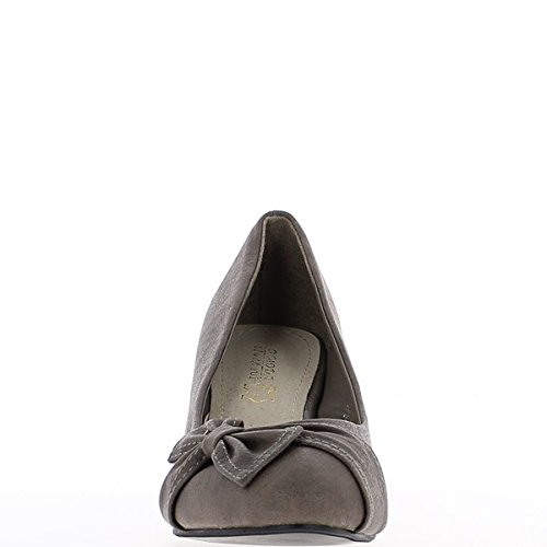 Zapatos de tacón de 8cm de mujer negra pintados