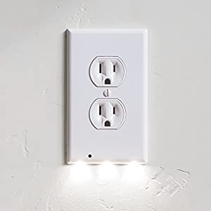 10 Pack SnapPower Guidelight - Outlet Wall Plate With LED Night Lights - No Batteries Or Wires - Installs In Seconds - (Duplex, White)