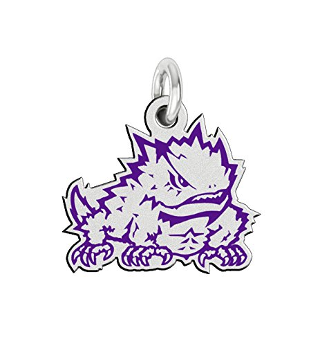 Texas Christian TCU Horned Frogs Sterling Silver Logo Charm (Horned Christian Frogs Texas Charm)