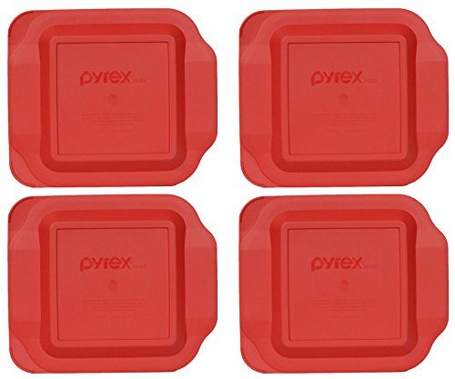 Pyrex Red Plastic Lid for 2 Quart 8-inch Square