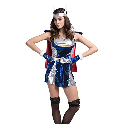 [Ladies Sexy Thor/Superman Halloween Fancy Dress Costume] (Woman Thor Costume)