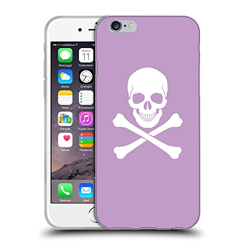 GoGoMobile Coque de Protection TPU Silicone Case pour // Q09470617 Os croisés 2 Bright Ube // Apple iPhone 6 4.7""