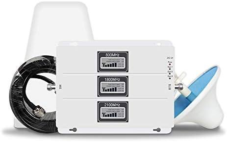 Lintratek携帯電話信号ブースター 2G 3G 4G 800/1800/2100MHz携帯電話信号増幅器70dB Band1 Band3 Band19信号ブースターフルセットNTTDocomo、KIDDau、Softbank 、Ymobileユーザーに適用