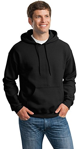 Gildan Mens DryBlend Pullover Hooded Sweatshirt, XL, Black