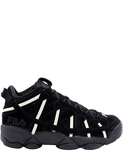 Fila Men's Spaghetti Hightop Basketball Shoes Sneakers (13 D(M) US, Black Cream Cream)
