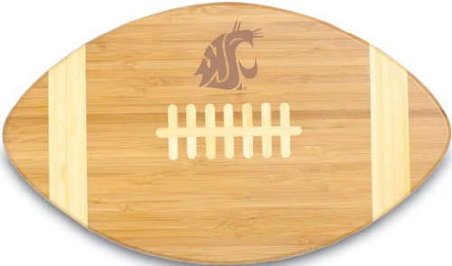 NCAA Washington State Cougars Touchdown! Bamboo Cutting Board, 16-Inch