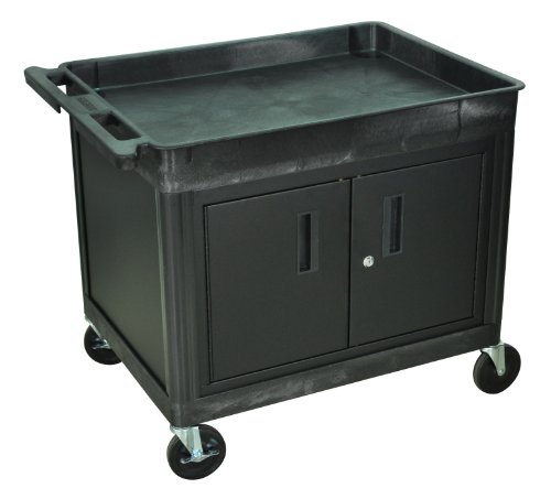 Luxor Cart with Locking Cabinet - 400-Lb. Capacity, Model# TC12C-B (Locking Cabinet Carts)