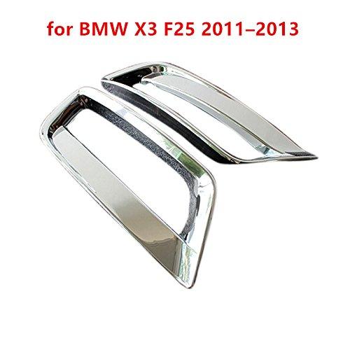 pour BMW X3/F25 mod/èles 2011 /à 2013 Coque de garniture chrom/ée pour feux antibrouillard inf/érieurs /à lavant 2/pi/èces