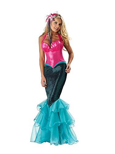 InCharacter Costumes Women's Mermaid Costume, Pink/Blue, Large