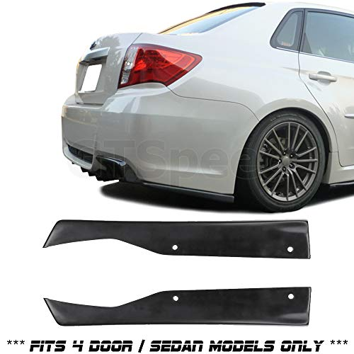 GT-Speed for 2011-214 Subaru Impreza WRX STI 4dr Sedan ONLY CS Rear PU Bumper Lip Add-on Side Aprons (May Fit Other Vehicle As Well 19