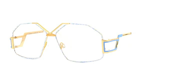 4df68f2ffd Image Unavailable. Image not available for. Color  Cazal 234 361 Blue and  Gold Authentic Women Vintage Eyeglasses Frame
