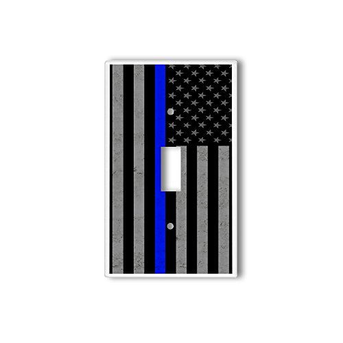 - Light Switch Single Wall Plate Cover By InfoposUSA Thin Blue Line USA Flag