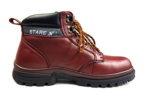 dita impermeabile A902Depp da pelle acciaio fg in trekking in stivali Starex di rosso sicurezza wERFxF