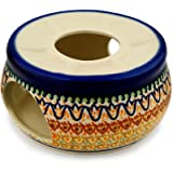 Polish Pottery Heater 6-inch Golden Tulip UNIKAT