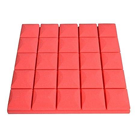 50 x 50 x 5 cm Red tipo paneles de espuma a prueba de sonido espuma de insonorización de espuma acústica Studio equipo de música por autone rosso: ...