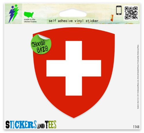 Switzerland Coat Of Arms Vinyl Car Bumper Window Sticker 3