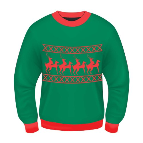 69681XL 46-48 Ugly Christmas Sweater Reindeer Games X-Rated -