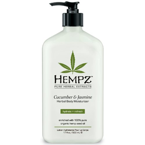 (Hempz Pure Herbal Extracts, Cucumber and Jasmine, 17-Ounce Bottle )