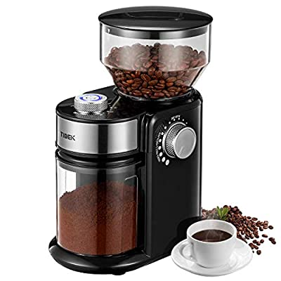 Burr Coffee Grinder, with Large Hopper Electric Burr Mill with 18 Grinding Options for 2-14 Cups, Automatic Burr Grinder for Drip, Percolator, French Press, American, Italian Coffee Makers, TIBEK from TIBEK