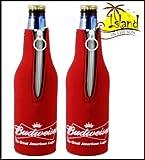 (2) Budweiser Bow Tie Beer Bottle Koozies Cooler For Sale
