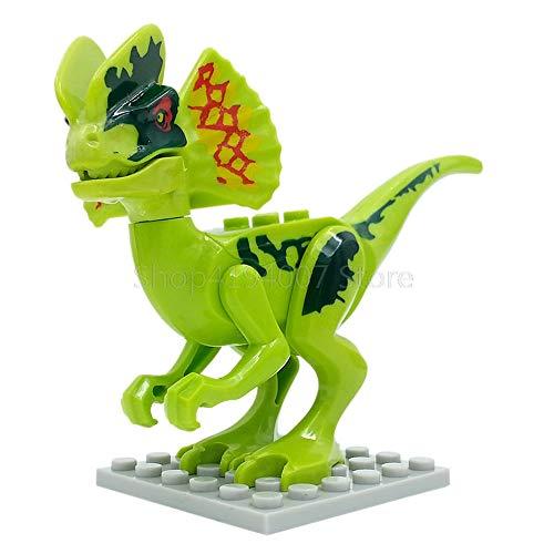 yaning Single Sale Legoingly Dinosaur World Set Velociraptor Blue T-Rex Building Blocks Sets Model Toys for Children ()