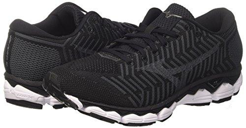 Darks 09 Noir Pour De Course Ombre S1 Hommes Mizuno Chaussures noir Waveknit vqW7xPwAw