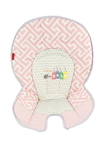 Fisher Price Space Saver High Chair Replacement (DRF73 PINK GRAY PAD) ()