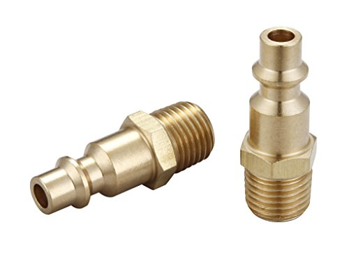 Tanya Hardware,air hose fittings,air Coupler Plug Set,universal and Industrial,MNPT,brass, 2 Piece,1/4-Inch NPT Male Thread-A0028 - Brass Thread