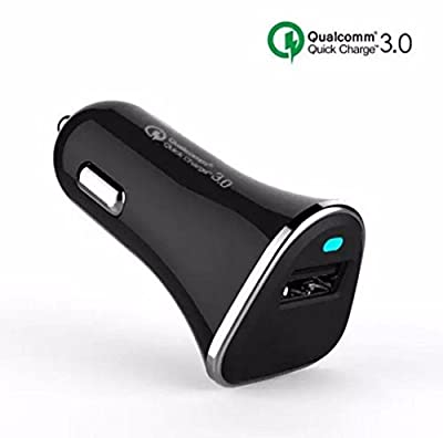 TAORE 15W 2-Port USB Car Charger with Quick Charge 3.0 Charging Technology for iPhone 6S Plus 6 Plus 6 5SE 5S 5 5C 4S, Samsung S6 Edge Plus Note 5 4 S5 Tab S, LG, G5, G4, HTC, Nexus 5X 6P, iPad