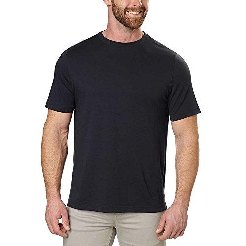 Kirkland Signature Men's 100% Cotton Classic Fit Tee (Black, Medium)