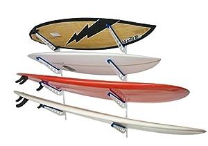 Great Metal Surfboard Storage Rack | 4 Surf Adjustable Wall Mount | StoreYourBoard