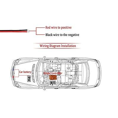 Clidr 4X2 Ambulance Police light 2LED Wireless Remote DC 12V led Warning light Car Truck Light Flashing Firemen Lights (White): Automotive