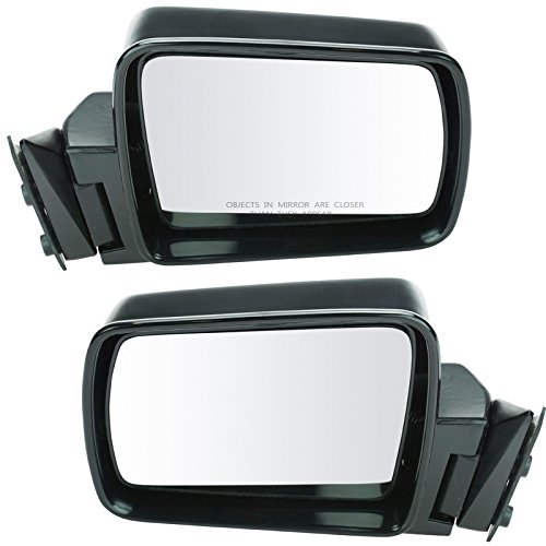 Manual Side View Door Mirrors Pair Set of 2 for Jeep Cherokee Comanche Wagoneer