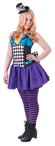 Uk 6-10 Purple Teenage Girls Mad Hatter Costume - Mad Hatter Uk Costume