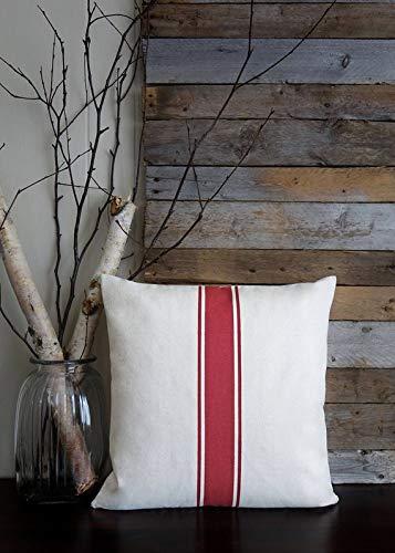 134 Cotton Cover (Blafitance Grain Sack Stripe Pillow Cover, Farmhouse Pillow Cover, Rustic Chic Pillows, Country Chic Home Decor, Cotton Canvas Grainsack)