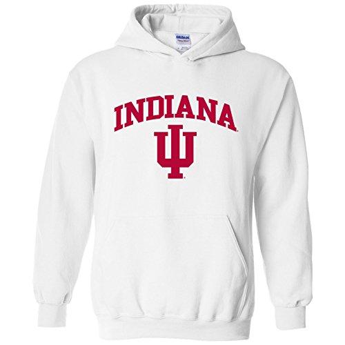 UGP Campus Apparel AH03 - Indiana Hoosiers Arch Logo Hoodie - Large - (White Logo Arch)