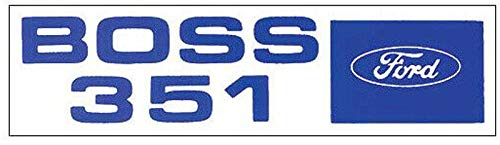 2pc Set 1971 FORD BOSS 351 VALVE COVER DECAL - STICKER Includes Mustang