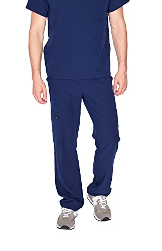- FIGS Cairo Cargo Scrub Pants for Men - Relaxed Fit, Super Soft Stretch, Anti-Wrinkle Medical Scrub Pants, Navy Blue 2XL