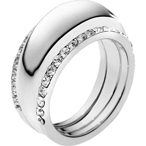 MICHAEL KORS MKJ2328040 MKJ2328 PAVE CRYSTAL GLITZ SILVER INSERT RING Size 6 (Michael Kors Rings Size 6)