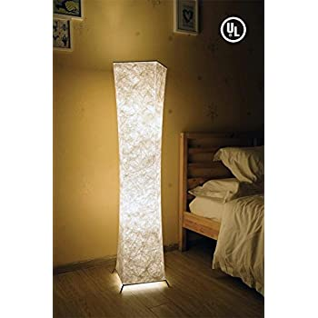 LED Floor Lamp With Fabric Shades, BI LIGHT Contemporary Standing Modern  Twisted Design Soft Light Floor Lamps For Living Room Bedroom Home Office,  ...