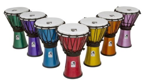 Toca TFCDJ-7MS Color Sound Djembe Set by Toca