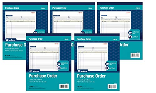 Adams Purchase Order Books, TC8131, Case of 5