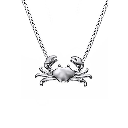 14k Crab Pendant (Cute Animal Maryland Crab 14k Gold Over Sterling Silver Pendant Necklaces)