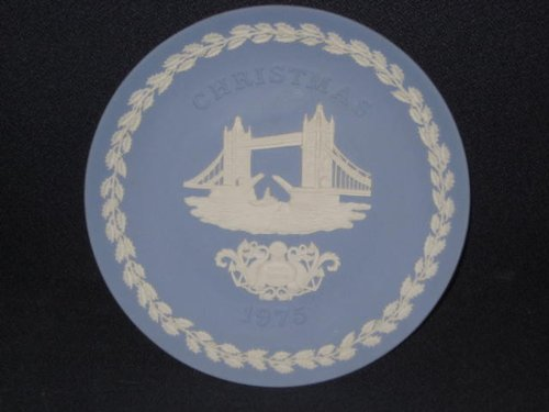 1975 Wedgwood Jasperware Pottery Christmas Plate